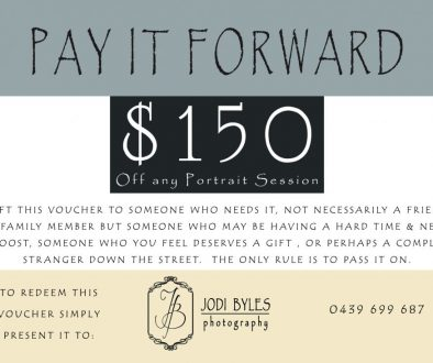Jodi Byles Photography Pay it Forward Voucher